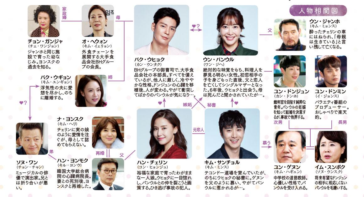 韓国ドラマ-愛はポロポロ-相関図